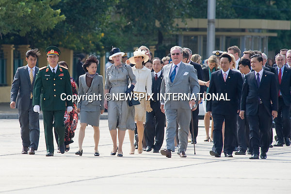 "The Danish Royal Family on the first official day of their State Visit to Vietnam. Vietnam is the first Royal visit the Danish Royal Family has taken together. Queen Margrethe, The Prince Consort Henrik, Crown Prince Fredrik and Crown Princess Mary attended the Official Welcome Ceremony at the Presidential Palace hosted by President Nguyen Minh TRIET and First Lady Tran Thi Kim Chi, after which they laid wreaths at the National Heroes and Martyrs Monument as well as the Ho Chi Minh Mausoleum, Hanoi, Vietnam_02/11/2009..Mandatory Photo Credit: ©Dias/Newspix International..**ALL FEES PAYABLE TO: ""NEWSPIX INTERNATIONAL""**..PHOTO CREDIT MANDATORY!!: NEWSPIX INTERNATIONAL(Failure to credit will incur a surcharge of 100% of reproduction fees)..IMMEDIATE CONFIRMATION OF USAGE REQUIRED:.Newspix International, 31 Chinnery Hill, Bishop's Stortford, ENGLAND CM23 3PS.Tel:+441279 324672  ; Fax: +441279656877.Mobile:  0777568 1153.e-mail: info@newspixinternational.co.uk"