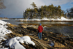 Winter at Wolfe's Neck Woods State Park, Freeport, Maine, USA