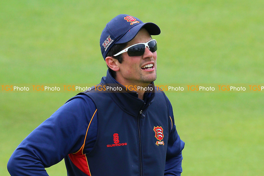 Alastair Cook of Essex warms up ahead of Essex CCC vs Northamptonshire CCC, Specsavers County Championship Division 2 Cricket at the Essex County Ground on 25th April 2016