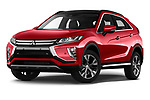 Stock pictures of low aggressive front three quarter view of a 2018 Mitsubishi Eclipse Cross Style 5 Door SUV