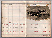 BNPS.co.uk (01202 558833)<br /> Pic: IAA/BNPS<br /> <br /> Sumpters logbook also includes a picture of the Lancaster used on the famous Dambusters raid in May 1943.<br /> <br /> A fascinating and historic logbook and photographs from a Dambuster's hero who also went on many other famous raids during WW2 has come light. <br /> <br /> The remarkable collection belonged to Flight Sergeant Leonard Sumpter who was a bomb aimer on the iconic Dam's mission, and put together a unique scrapbook of his thrilling wartime career in Bomber Command's most famous squadron.<br /> <br /> As well as the bouncing bomb sortie, the ace bomb aimer also dropped Barnes Wallis's later invention's of massive Tallboy and Grand Slam 'bunker busting' bombs, the largest non nuclear warheads of the war.<br /> <br /> Only the elite 617 squadron were entrusted with delivering these hugely valuable weapons onto their vital targets, that included U-boat pens, V2 rocket sites and even Hitler's Bavarian hideaway the Eagles Nest.<br /> <br /> Also included are pictures Mr Sumpter took in 1947 during a summer excusion to visit some of the sites he had attacked during the conflict.<br /> <br /> Flt Sgt Sumpter's daughter has decided to put the photo album up for auction together with his logbook and his personal scrapbook.