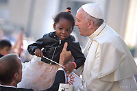 Pope Francis during of a weekly general audience at St Peter's square in Vatican.September 27, 2017