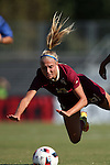 15 October 2016: Florida State's Emma Koivisto is tripped. The North Carolina State University Wolfpack hosted the Florida State University Seminoles at Dail Soccer Field in Raleigh, North Carolina in a 2016 NCAA Division I Women's Soccer match. FSU won the game 1-0.