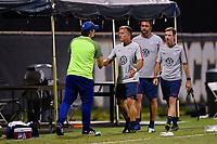 Miami, FL - Tuesday, October 15, 2019:  Jason Kreis, Staff during a friendly match between the USMNT U-23 and El Salvador at FIU Soccer Stadium.