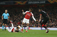 Arsenal's Alex Iwobi and Henrikh Mkhitaryan<br /> <br /> Photographer Rob Newell/CameraSport<br /> <br /> Football - UEFA Europa League Round of 16 Leg 2 - Arsenal v Rennes - Thursday 14th March 2019 - The Emirates - London<br />  <br /> World Copyright © 2018 CameraSport. All rights reserved. 43 Linden Ave. Countesthorpe. Leicester. England. LE8 5PG - Tel: +44 (0) 116 277 4147 - admin@camerasport.com - www.camerasport.com