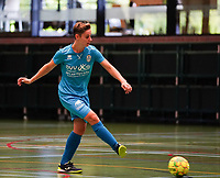 20190915– HALLE , BELGIUM : FP Halle-Gooik Girls A's Roxanne Hensmans is  pictured during the Belgian Women's Futsal D1 match between FP Halle-Gooik A and FP Halle-Gooik B on Sunday 15th 2019 at the De Bres Sport Complex in Halle, Belgium. PHOTO SPORTPIX.BE | Sevil Oktem