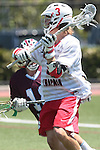 Orange, CA 05/01/10 - Andrew Clayton (Chapman # 3) in action during the LMU-Chapman MCLA SLC semi-final game in Wilson Field at Chapman University.  Chapman advanced to the final by defeating LMU 19-10.