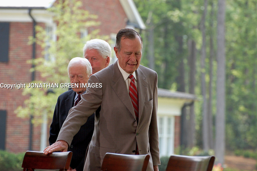 George H.W. Bush,Jimmy Carter & Bill Clinton Attend CEREMONY TO DEDICATE THE NEW BILLY GRAHAM LIBRARY IN CHARLOTTE , NC 05-31-2007 By Jonathan Green