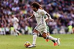 Marcelo Vieira Da Silva of Real Madrid competes for the ball with Unai Lopez of Deportivo Leganes during their La Liga match between Real Madrid and Deportivo Leganes at the Estadio Santiago Bernabéu on 06 November 2016 in Madrid, Spain. Photo by Diego Gonzalez Souto / Power Sport Images