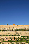 Israel, Jerusalem, a view of Kidron valley and Temple Mount's wall