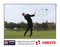 Matthew Lamb (AM) playing with Marcus Kinhult (SWE) on the 10th tee during the Pro-Am of the Betfred British Masters 2019 at Hillside Golf Club, Southport, Lancashire, England. 08/05/19<br /> <br /> Picture: Thos Caffrey / Golffile<br /> <br /> All photos usage must carry mandatory copyright credit (&copy; Golffile | Thos Caffrey)