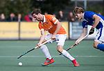 UTRECHT - Roel Bovendeert (Bldaal) met Jip Jansen (Kampong)  tijdens de hockey hoofdklasse competitiewedstrijd heren:  Kampong-Bloemendaal (3-3). COPYRIGHT KOEN SUYK