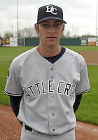 April 20, 2004:  Pitcher T.J. Beam of the Battle Creek Yankees, Midwest League low-A affiliate of the New York Yankees, during a game at Memorial Stadium in Fort Wayne, IN.  Photo by:  Mike Janes/Four Seam Images