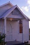 West End Baptist Church with electric light, Cayman Brac, Cayman Islands,