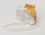 Evening Purse, 2014–2015; Designed and made by Michael Izrael Galmer (American, b. Soviet Union, 1947); (Long Island City, New York, USA); Cast, chased, and electroformed silver, partly gilt silver and mesh silver; 11.4 × 14.6 × 5.1 cm (4 1/2 in. × 5 3/4 in. × 2 in.); Gift of Michael Izrael Galmer, 2015-38-2; Photo:  Matt Flynn © Smithsonian Institution