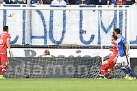 Brescia 30/09/2017 - campionato di calcio serie B / Brescia - Perugia / foto Matteo Gribaudi/Image Sport/Insidefoto<br /> nella foto: gol Dimitri Bisoli