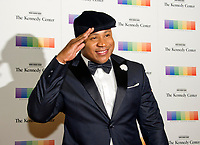 LL COOL J salutes as he arrives for the formal Artist's Dinner honoring the recipients of the 40th Annual Kennedy Center Honors hosted by United States Secretary of State Rex Tillerson at the US Department of State in Washington, D.C. on Saturday, December 2, 2017. The 2017 honorees are: American dancer and choreographer Carmen de Lavallade; Cuban American singer-songwriter and actress Gloria Estefan; American hip hop artist and entertainment icon LL COOL J; American television writer and producer Norman Lear; and American musician and record producer Lionel Richie.  <br /> Credit: Ron Sachs / Pool via CNP /MediaPunch