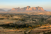 View of Gheralta landscape; ancient rock-hewn churches are hidden in these mountains.