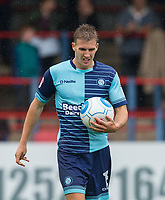 Dayle Southwell of Wycombe Wanderers takes the ball to the penalty spot during the pre season friendly match between Aldershot Town and Wycombe Wanderers at the EBB Stadium, Aldershot, England on 22 July 2017. Photo by Andy Rowland.