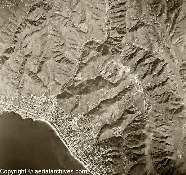 historical aerial photograph Laguna Beach, Orange County, California, 1946