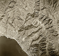 historical aerial photograph Laguna Beach, Orange County, California, 1946