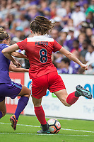 Orlando, FL - Saturday April 22, 2017: Lindsay Agnew during a regular season National Women's Soccer League (NWSL) match between the Orlando Pride and the Washington Spirit at Orlando City Stadium.