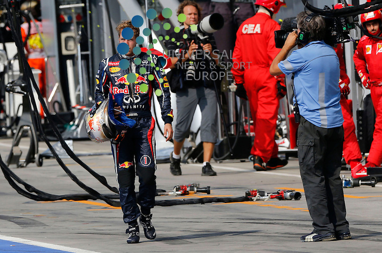 Formula 1 Race 13 GP of Italy, Monza - 07.-09. Aug. 2012.Sebastian Vettel (GER), Red Bull Racing ..Hasan Bratic;10/9/2012 Universal News And Sport (Europe) .All pictures must be credited to www.universalnewsandsport.com. (Office)0844 884 51 22.
