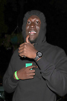 Stormzy is pictured arriving at Annabels Club for Drake's Scorpion Release Party in London.<br />