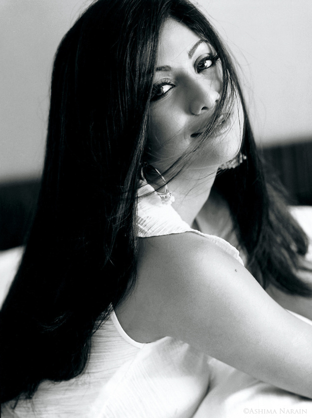 Shilpa Shetty, Indian film actress and model. Photographed for Man's World.