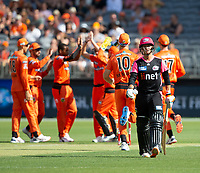 26th December 2019; Optus Stadium, Perth, Western Australia, Australia;  Big Bash League Cricket, Perth Scorchers versus Sydney Sixers; Josh Philippe of the Sydney Sixers walks off after being dismissed for 9 - Editorial Use