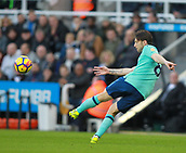4th November 2017, St James Park, Newcastle upon Tyne, England; EPL Premier League football, Newcastle United Bournemouth; Harry Arter of AFC Bournemouth volleys the ball forward in the first half of the 0-1 win