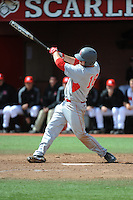 University of Houston Cougers infielder Casey Grayson (18) during game game 1 of a double header against the Rutgers University Scarlet Knights at Bainton Field on April 5, 2014 in Piscataway, New Jersey. Rutgers defeated Houston 7-3.      <br />  (Tomasso DeRosa/ Four Seam Images)
