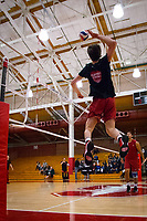 STANFORD, CA - March 10, 2018: JP Reilly at Burnham Pavilion. UC Irvine defeated the Stanford Cardinal, 3-0.
