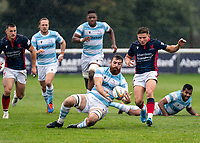 Gary Graham of Newcastle Falcons during the Greene King IPA Championship match between London Scottish Football Club and Newcastle Falcons at Richmond Athletic Ground, Richmond, United Kingdom on 12 October 2019. Photo by Liam McAvoy.