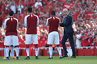 Arsenal manager Arsene Wenger walks out prior to kick-off<br /> <br /> Photographer Rob Newell/CameraSport<br /> <br /> The Premier League - Arsenal v Burnley - Sunday 6th May 2018 - The Emirates - London<br /> <br /> World Copyright &copy; 2018 CameraSport. All rights reserved. 43 Linden Ave. Countesthorpe. Leicester. England. LE8 5PG - Tel: +44 (0) 116 277 4147 - admin@camerasport.com - www.camerasport.com