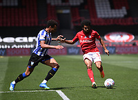 28th June 2020; Ashton Gate Stadium, Bristol, England; English Football League Championship Football, Bristol City versus Sheffield Wednesday; Jacob Murphy of Sheffield Wednesday competes for the ball with Jay Dasilva of Bristol City