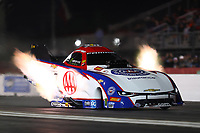 Apr 20, 2018; Baytown, TX, USA; NHRA funny car driver Robert Hight during qualifying for the Springnationals at Royal Purple Raceway. Mandatory Credit: Mark J. Rebilas-USA TODAY Sports