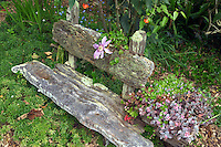 home made bench at Thompson heather Gardens. California