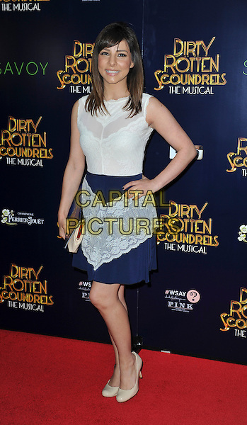 LONDON, ENGLAND - APRIL 02: Roxanne Pallett attend the Dirty Rotten Scoundrels gala night, Savoy Theatre, The Strand, London, England 2nd April 2014.<br /> CAP/PP/GM<br /> &copy;Gary Mitchell/PP/Capital Pictures