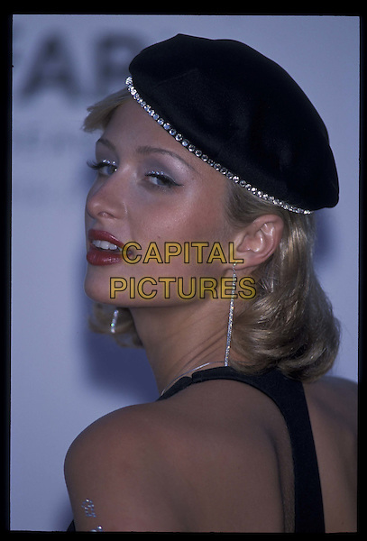 PARIS HILTON.Cannes Film Festival.May 2001.Ref: 10854.hat, headshot, portrait.*RAW SCAN- photo will be adjusted for publication*.www.capitalpictures.com.sales@capitalpictures.com.©Capital Pictures
