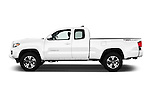 Car Driver side profile view of a 2016 Toyota Tacoma TRD Sport 4 Door Pick Up Side View