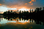 Sunset on American Lake near Tacoma, Washington. Jim Bryant Photo. ©2010. All Rights Reserved.