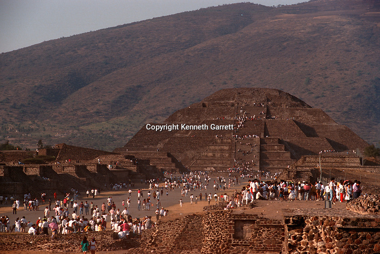 Teotihuacan; Pyramid of the Moon; Pyramids; Meso America; Mexico; Ancient Cultures-The Americas