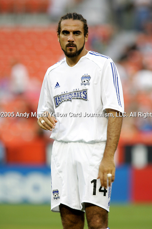 15 July 2005: Dwayne DeRosario. DC United defeated the San Jose Earthquakes 3-0 at RFK Stadium in Washington, DC in a regular season Major League Soccer game. .