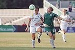 24 June 2009: Brittany Bock (left) of the Los Angeles Sol and Christie Welsh (23) of Saint Louis Athletica vie for a loose ball.  Saint Louis Athletica was defeated by the visiting Los Angeles Sol 1-2 in a regular season Women's Professional Soccer game at AB Soccer Park, in Fenton, MO.