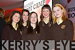 Students from Presentation, Listowel, pictured at the Young Entrepreneur Business Boot Camp in the Brandon Hotel, Tralee on Friday, from left: Patricia Goulding, Lisa Walsh, Deirdre O'Connor, Muireann Kissane and Tara Downes.