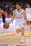 Turkish Airlines Euroleague 2017/2018.<br /> Regular Season - Round 23.<br /> FC Barcelona Lassa vs R. Madrid: 74-101.<br /> Facundo Campazzo.