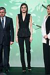 "Queen Letizia of Spain and President of Madrid Community, Cristina Cifuentes during the delivery of SM Awards of children's literature ""El Barco de Vapor"" and ""Gran Angular"" at Real Casa de Correos in Madrid. April 19,2016. (ALTERPHOTOS/Borja B.Hojas)"