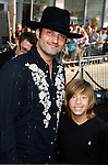 "HOLLYWOOD, CA. - April 30: Robert Rodriguez and Jimmy Bennett arrive at the Los Angeles premiere of ""Star Trek"" at the Grauman's Chinese Theater on April 30, 2009 in Hollywood, California."