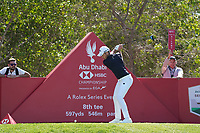 Danny Willett (ENG) on the 8th tee during Round 1 of the Abu Dhabi HSBC Championship 2020 at the Abu Dhabi Golf Club, Abu Dhabi, United Arab Emirates. 16/01/2020<br /> Picture: Golffile | Thos Caffrey<br /> <br /> <br /> All photo usage must carry mandatory copyright credit (© Golffile | Thos Caffrey)